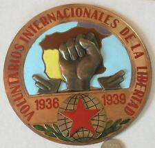 Voluntarios internacionales de la libertad,Spanish Civil war,Bronze enamel award