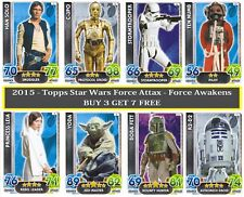 Topps Star Wars Force Attax - Force Awakens (2015) Cards - Base and Holographic