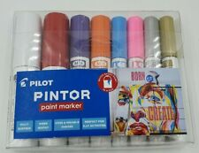 Pilot pintor paint marker set of 8 differents colours and sizes