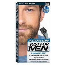 4 Pack JUST FOR MEN Color Gel Mustache, Beard & Sideburns 80 Light Brown 1 Each