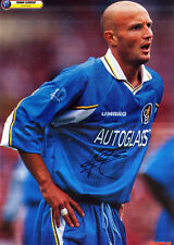 FRANK LEBOEUF IN CHELSEA STRIP HANDSIGNED COLOUR MAGAZINE PICTURE 17 x 12