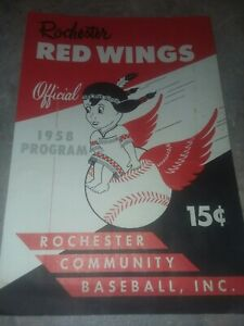 1958 Rochester Red Wings  Official Program vs Montreal Royals