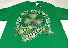 Kiss My Shamrock I'm Irish Men's Graphic T-shirts  size LT New