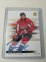 2019-20 UD SP Authentic Limited Auto Parallel #39 Tom Wilson Washington Capitals