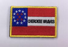 CHEROKEE BRAVES  Cavalry Flag USA ARMY EMBRODIERY HOOK PATCH sh+ 902