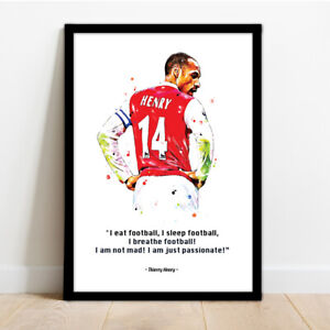 ARSENAL - THIERRY HENRY FRAMED FOOTBALL PRINT POSTER
