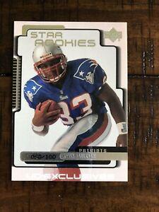 1999 Upper Deck Exclusives Patriots Football Card #244 Kevin Faulk/100