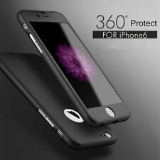 iPhone x 8 SE/6S/7 Plus Huawei 360° protection mat Étui Slim Coque + D'écran