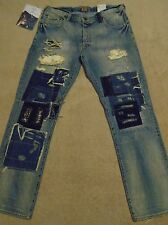 PRPS GOODS & CO. BARRACUDA Destroyed Repaired Patched Mens 36 x 34 Jeans $425+