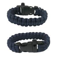 New Paracord Parachute Cord Emergency Survival Hiking Bracelet Navy Color