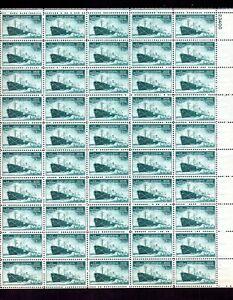UNITED STATES 1946 SCOTT# 939 SHEET OF 50. WWII MERCHANT MARINE ACHIEVEMENTS.