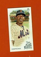 2019 Topps Allen & Ginter Mini Yoenis Cespedes SP #374 New York Mets