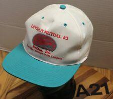 LINCOLN MUTUAL #3 WILBUR WASHINGTON HAT WHITE/GREEN SNAPBACK VGC A21