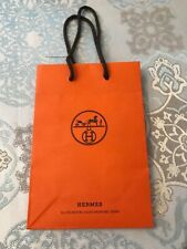 "Hermes Small Shopping/Gift Bag - 9"" x 6"""