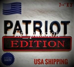 PATRIOT EDITION Black Fit All Car Truck logo YACHT CUSTOM EMBLEM Bumper Badge