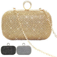 Luxury Sparkly Diamante Encrusted Shiny Evening Clutch Wedding Evening Handbag