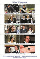 Aitutaki Cook Islands 2011 MNH Royal Engagement Prince William Kate 10v M/S