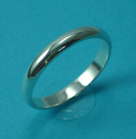 Solid 925 Sterling Silver 3.2mm Wedding Ring/Band D Shape Jewellery Various Size