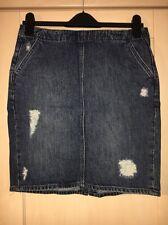 Gap Dark Wash Distressed Denim Pencil Skirt Size 28 (size 10) Brand New