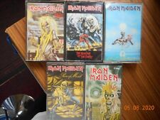 IRON MAIDEN  x 5 cassette tapes. Lot no 2.