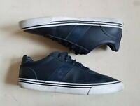 RALPH LAUREN TRAINERS SHOES HANFORD BLUE LEATHER SIZE UK 8 EU 42 RRP £110