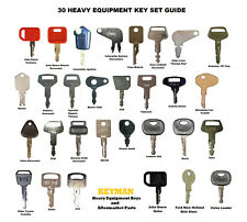 30 Keys Construction Heavy Equipment Ignition Key Set Cat Case Jd Komatsu Jcb Nh