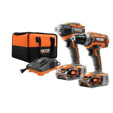 RIDGID R9603 18-Volt Lithium-Ion Cordless Brushless Drill/Driver and Impact Kit
