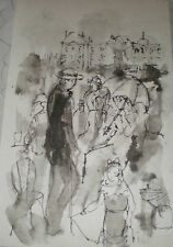 Lily Harmon  Illustration ink Mixe media agency stamp verso