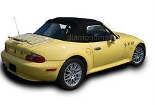 (EZ ON ) BMW Z3 1996-2002 Convertible Soft Top & Plastic Window Black Twillweave