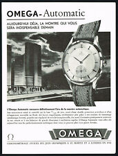 1940s Old Vintage 1947 Omega Automatic Swiss Watch Mid Century Art Print Ad
