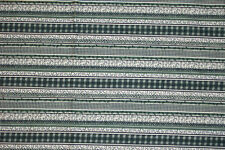 Vintage fabric, navy and hunter green stripe, cotton.