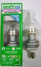 3W 3000K E12 Candelabra Base Dimmable LED Light Bulb 15W Equal Chandelier Lamp