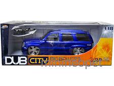 JADA 2002 02 CADILLAC ESCALADE SUV 1/18 DIECAST BLUE