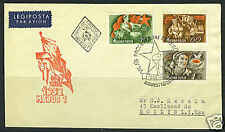 HUNGARY 1952 BUDAPEST FDC TO ROSLYN, LONG ISLAND
