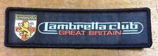 Lambretta Club Great Britain - LCGB Logo Cloth Sew On Patch
