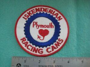 Vintage ISKY Plymouth Road Runner Iskenderian Racing Racing Cams NHRA  Hat Patch