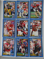 1999 Score Series 1 San Francisco 49ers Team Set of 9 Football Cards