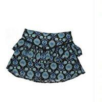 TOBI Mini Skort Skirt  Size S Floral Blue Black Women's
