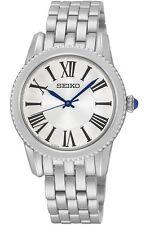 SEIKO Damenuhr Edelstahl elegante 31mm Armbanduhr mit Cabouchon SRZ437P1