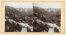 Stereo, Pologne, Riesengebirge, Monts des Géants Vintage stereo card -  Tirage