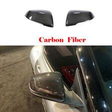 1Pair Door Side Mirror Cover Cap For Toyota Supra 18-20 Carbon Fiber Replacement