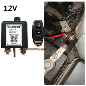 Car Battery Safety Kill Cut-off Switch 200A Industrial Relay w/Wireless Remote
