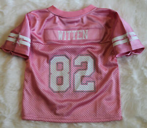 NWT! DALLAS COWBOYS Jason Witten 82 Girls Toddler Mesh Glitter Pink Jersey~3T
