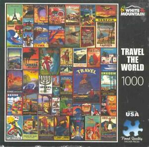 lewis T.Johnson White Mountain Jigsaw puzzle Travel The World 1 Piece Missing