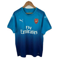 Puma Arsenal Soccer Football Mens Jersey Size Large Blue Short Sleeve