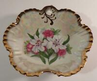Grantcrest Made in Japan Candy Dish Gold Trim with Flowers ~ Lillie's +