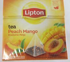Lipton Black Tea: Peach Mango -1 box/ 20 tea bags -