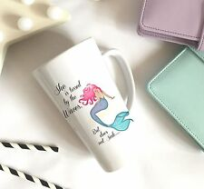 Mermaid Quote Large Latte Ceramic Mug