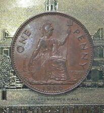 1966 One Penny Rare British Coin--UNITED KINGDOM