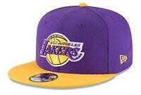 Los Angeles Lakers New Era 9Fifty Basic OTC 2 Tone Adjustable Snapback Hat Cap